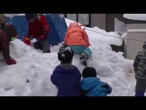 雪遊び2015.1/青森大谷幼稚園
