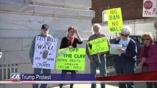 Protestors Gather at Court House