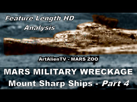 MARS NAVY MILITARY WRECKAGE: Mount Sharp Ships near Traffic Light. ArtAlienTV 1080p (Part 4)