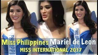Video Miss International 2017: MARIEL DE LEON Miss Philippines INTERVIEW (HD) MP3, 3GP, MP4, WEBM, AVI, FLV Desember 2017
