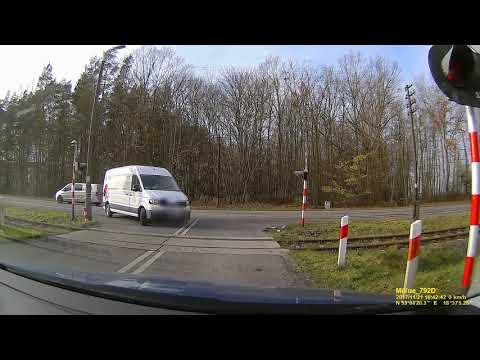 Авария в Польше на жд переезде