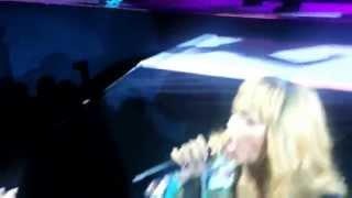 RIHANNA HITS FAN-DIAMONDS WORLD TOUR BIRMINGHAM,UK