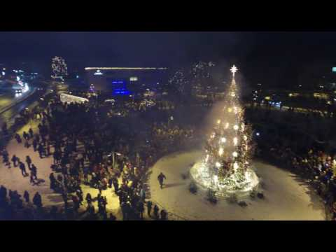 Christmas Tree Lighting in Valmiera 2016