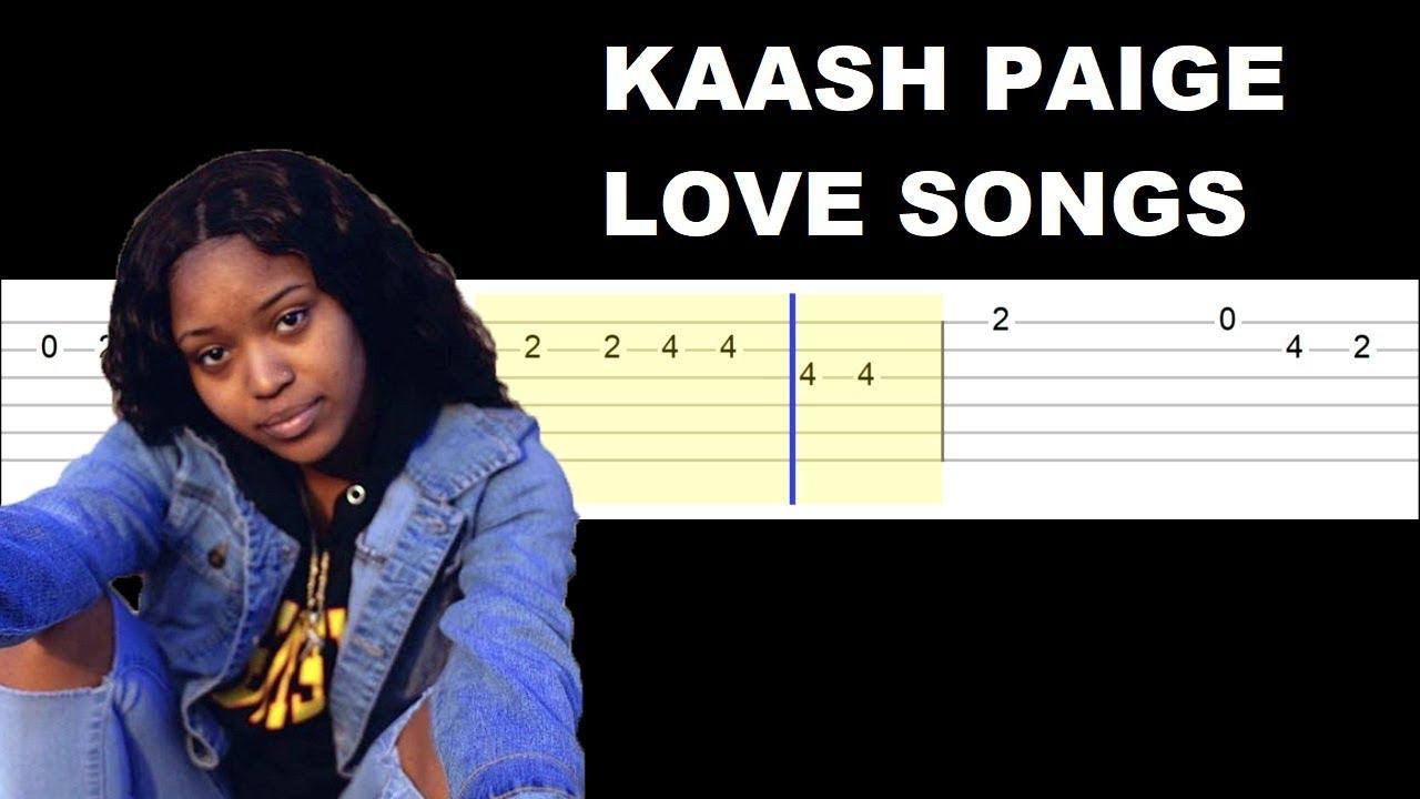 Kaash Paige – Love Songs (Easy Guitar Tabs Tutorial)