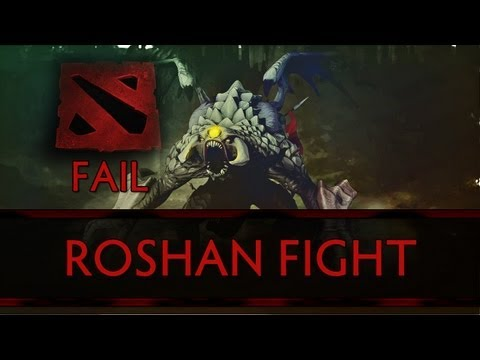 Dota 2 Fail – The Level One Roshan Fight