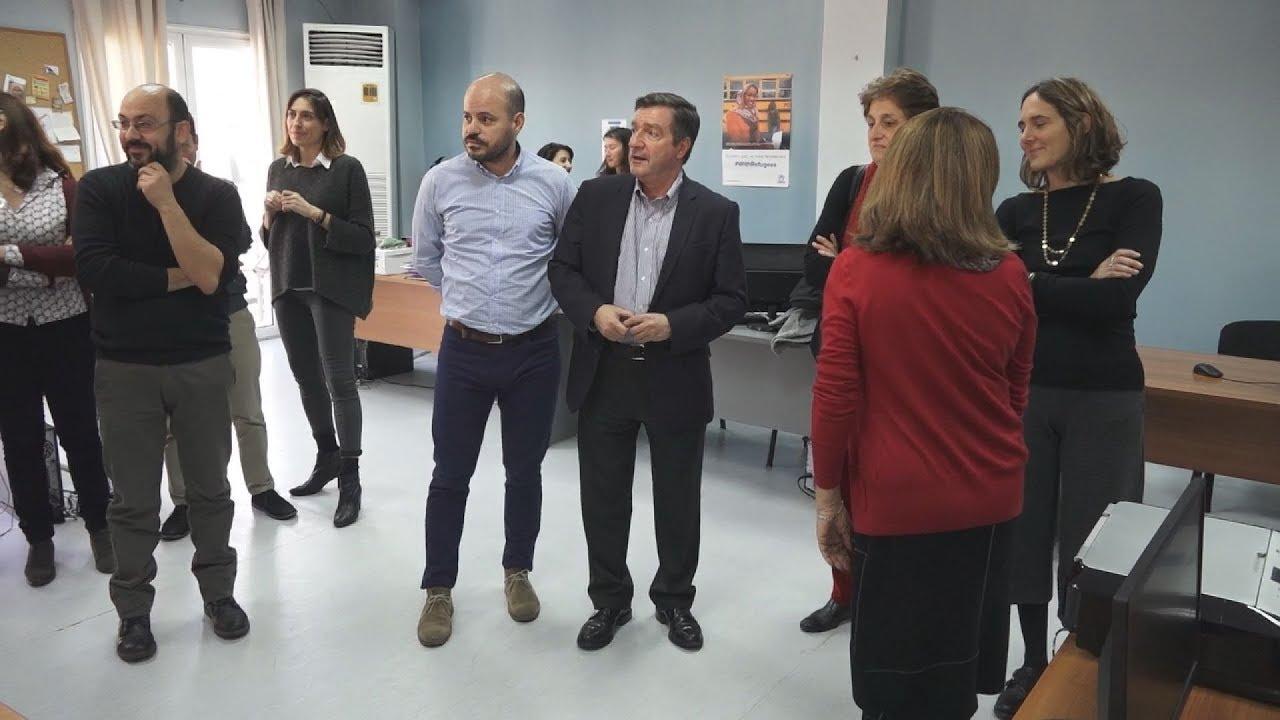 Ο δήμαρχος Αθηναίων Γ. Καμίνης  εγκαινίασε  κέντρο συντονισμού προσφύγων