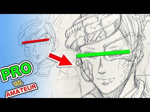 Japanese Pro vs. Amateur|Character Design (видео)