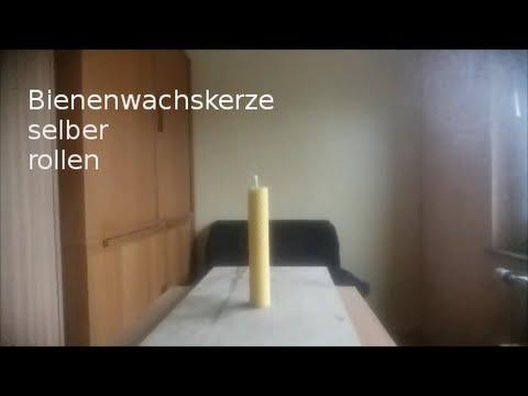 Bienenwachskerze selber rollen (Schritt für Schritt)