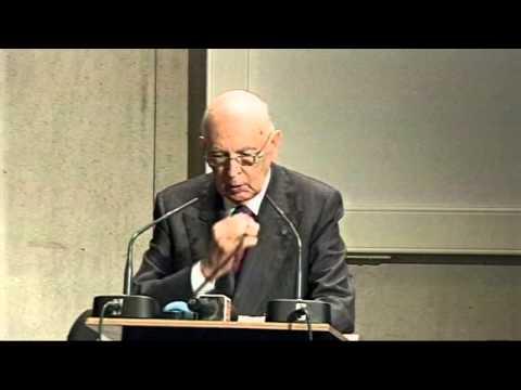 Il discorso di Napolitano a Lugano