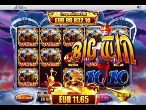 Genie Jackpots Slot (Blueprint Gaming) - Infected Wild Feature with Many Wildlines - Big Win