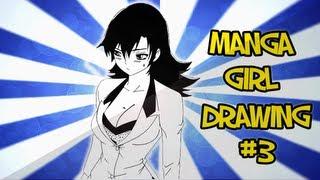 Manga Girls Drawing #3 (Time Lapse)