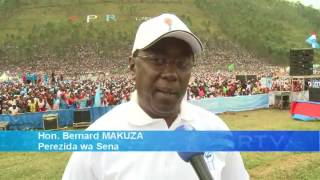 Perezida wa Sena Hon. Makuza avuga ko ijwi rye azariha umukandida wa FPR-Inkotanyi
