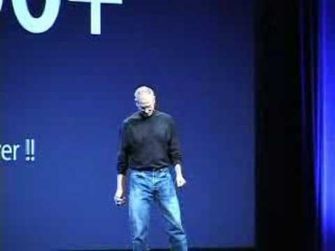 spoof - The now famous Apple/Microsoft commercial took an even funnier turn at the WWDC07 conference when PC pretended to be Steve Jobs.