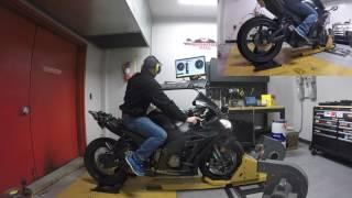 8. 200 Horse power 2016 Kawasaki Ninja ZX-10 R Dyno Run