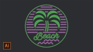 Illustrator Tutorial - Neon Beach Badge Logo (Illustrator Logo Tutorial) Thanks for watching! SUBSCRIBE for more design videos! In this Adobe Illustrator tut...