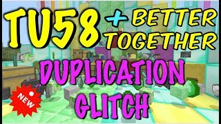 NEW WORKING, MINECRAFT XBOX / PS BETTER TOGETHER UPDATE / TU58 DUPLICATION GLITCH - THIS IS ONE ...