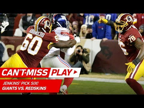 Video: Janoris Jenkins' Tackle-Breaking Pick 6 to Tie the Game!   Can't-Miss Play   NFL Wk 12 Highlights