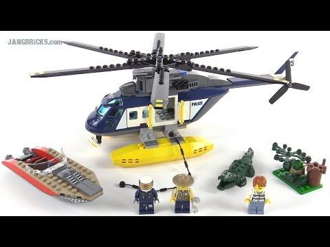 """Конструктор Lego City 60067 """"Погоня на полицейском вертолёте"""""""