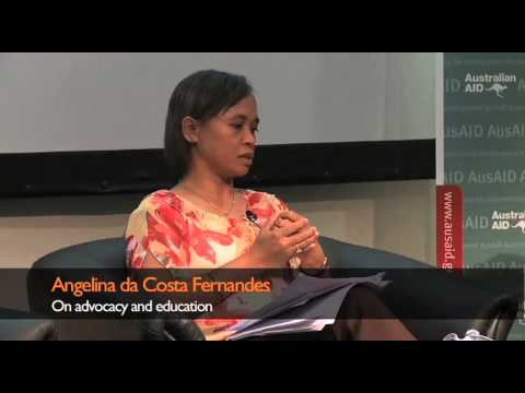 Samson Baba and Angelina da Costa Fernandes On advocacy and education