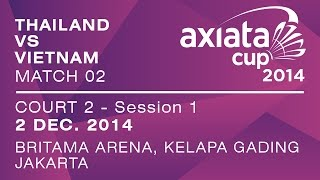 Event: Axiata Cup 2014 - Group Stage Date: 27 November 2014 - 3 December 2014 Venue: Britama Arena, Jakarta, Indonesia Players: Boonsak PONSANA (THA) vs NGUY...