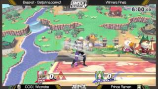 Prince Ramen (Palutena) gets the two-frame on Wizzrobe's Shiek