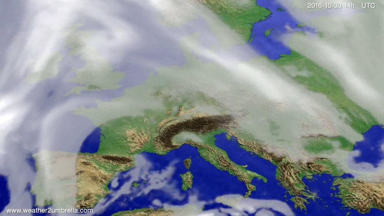 Cloud forecast Europe 2016-10-26