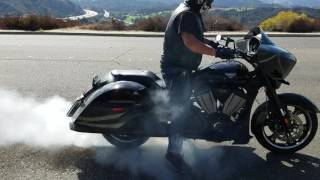 9. Burn out on my 2016 victory cross country
