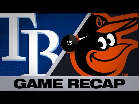 Video: Santander lifts the O's in 8-3 win vs. Rays | Rays-Orioles Game Highlights 8/25/19