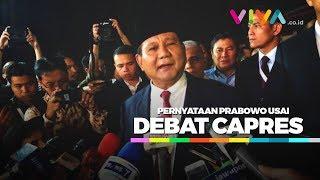 Video Pernyataan Prabowo Soal Jokowi Usai Debat Capres MP3, 3GP, MP4, WEBM, AVI, FLV Februari 2019