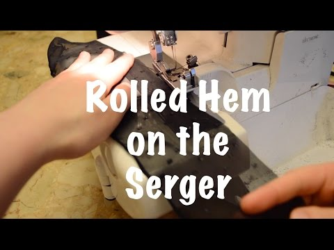Sewing How To: Rolled Hem on the Serger for Chiffon and Stretch Fabrics