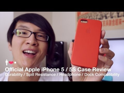 Official Apple iPhone 5S Leather Case Review -  (Product) RED Edition