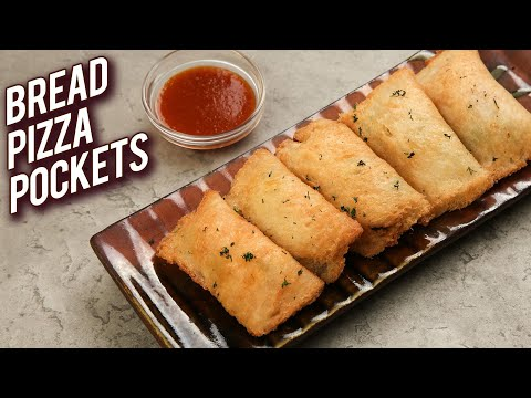 Bread Pizza Pockets – Veg Pizza Pockets Recipe – Monsoon Recipe – Kids Snack Recipe – Bhumika
