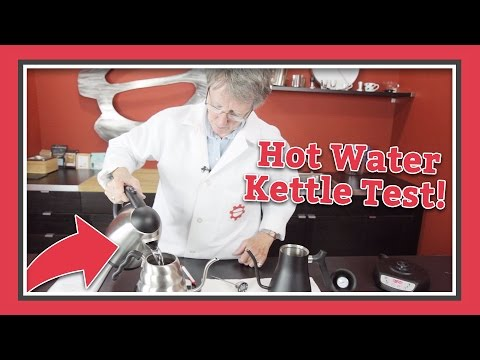 Pour Over Kettle Hot Water Test! | Latte Lab