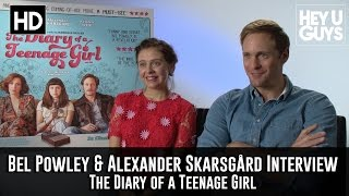 Bel Powley & Alexander Skarsgard - The Diary of a Teenage Girl Exclusive Interview