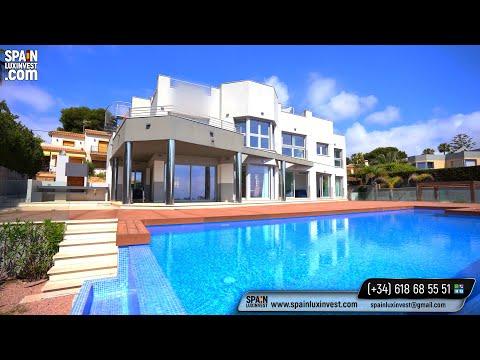 2890000€/Элитная вилла в Испании на 1 линии моря со спуском к морю/Дом в Кальпе/Виллы в Испании