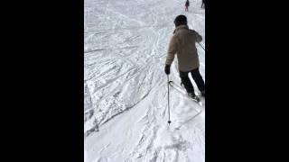 Skiing leg for below knee amputee