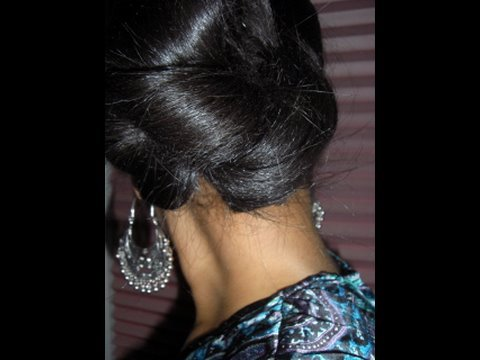 Simple Everyday Updo. This look is very quick easy & simple to do!