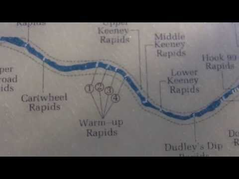 New River Rapids Map - New River Gorge, West Virgina White Water Rafting