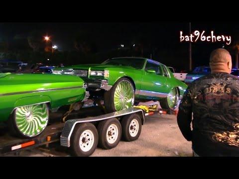 Car Show Customs GREEN FLEET: Box Chevy on 32s, 75 Donk, Ford Dually, Busa, SRX - HD
