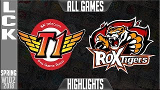 Video SKT vs ROX Highlights ALL GAMES | LCK Spring 2018 S8 W1D2 | SK Telecom T1 vs ROX Tigers MP3, 3GP, MP4, WEBM, AVI, FLV Agustus 2018