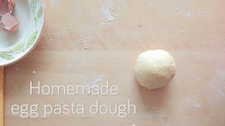 Homemade egg pasta dough