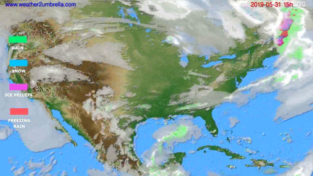 Precipitation forecast USA & Canada // modelrun: 12h UTC 2019-05-28