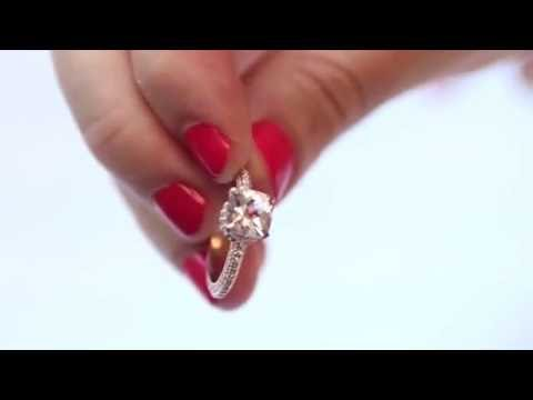 morganite + rose gold + 132 small diamonds = DUH