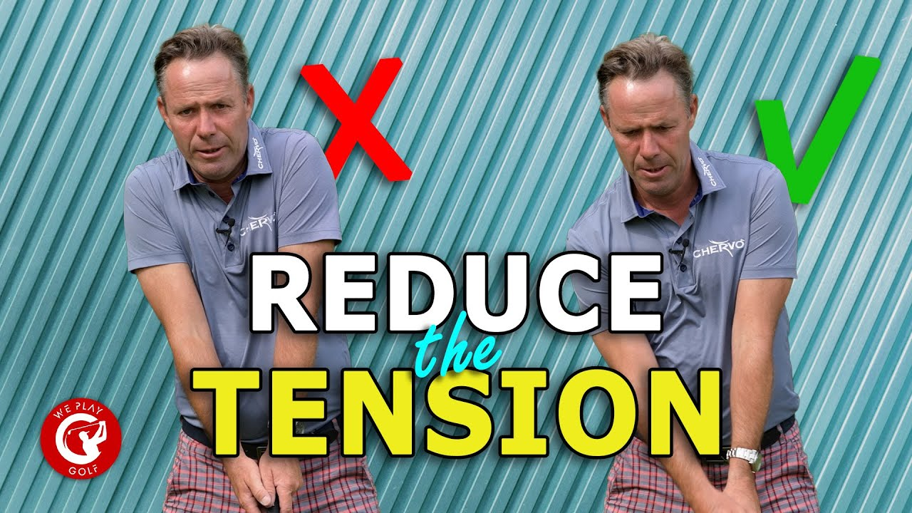 Reduce the TENSION in the upper body when hitting a DRIVER