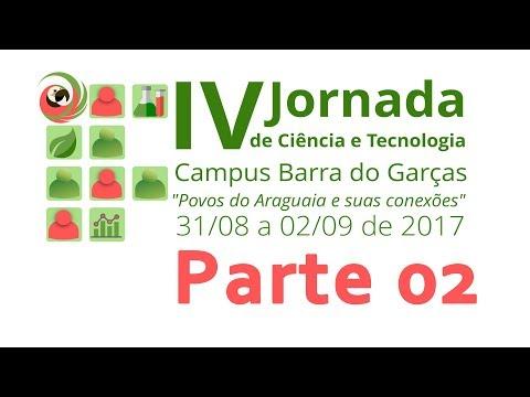 IV Jornada de Ciência e Tecnologia do IFMT campus Barra do Garças. Segunda parte.
