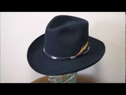 Stetson 4X Beaver Black Fur Felt Western Cowboy Hat