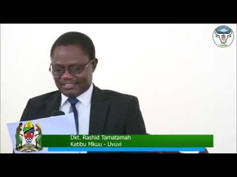 Katibu Mkuu Uvuvi, Dkt.Rashid Tamatamah akiongea na watumishi wa sekta ya uvuvi