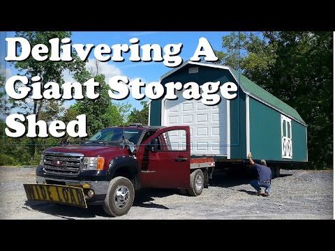 Delivering A Giant Storage Shed - Helmuth Builders