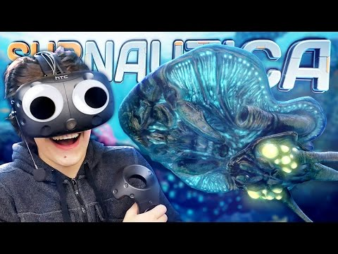 Subnautica in virtual reality subnautica vr mode htc for Crazy fishing vr