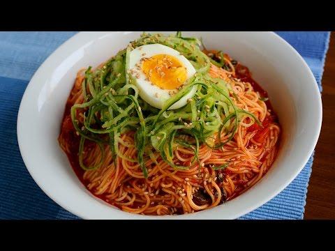 Korean Recipe: How to make Spicy Noodles – Bibimguksu – 비빔국수